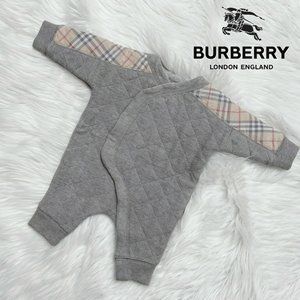 Burberry Check Cotton Diamond Quilted Jumpsuit